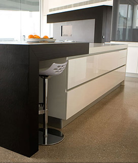 Kitchen island bench Mitred