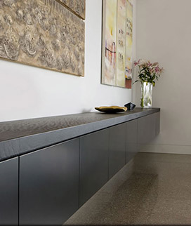 Credenza With 50 mm mitred Edges